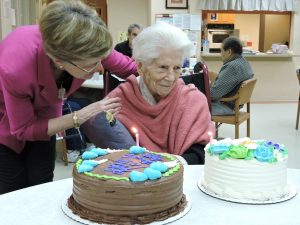 Betty Haig 103rd birthday at SAGE Eldercare
